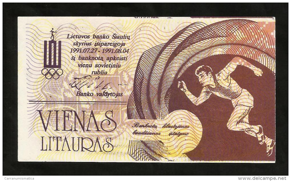 Lithuania - 1 LITAURAS (1991) - Lituanie