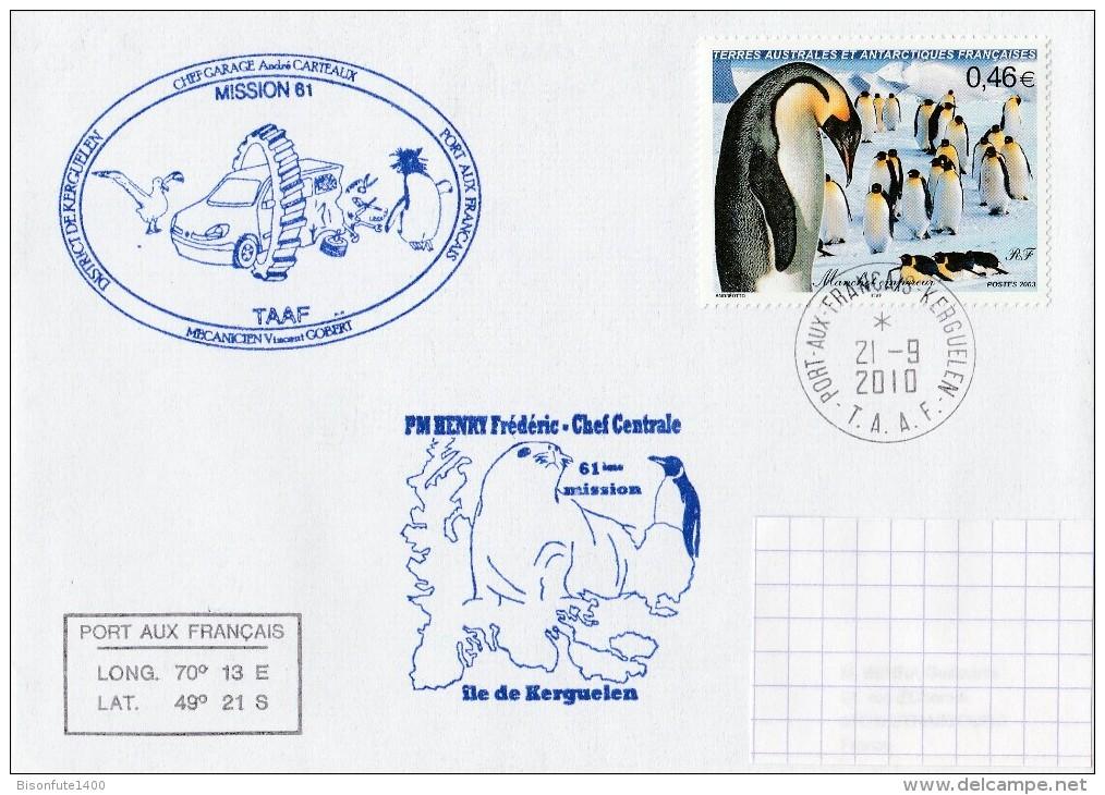 T.A.A.F. 2003 - Lettre Ayant Circulé - Timbres Yvert & Tellier N° 360 - Terres Australes Et Antarctiques Françaises (TAAF)
