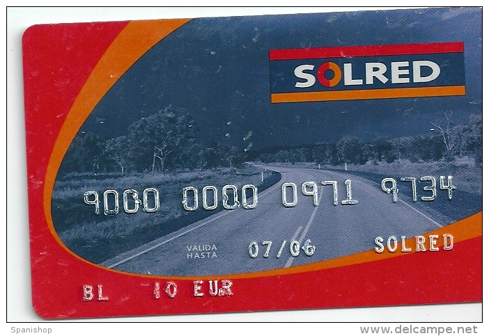 Gasoil - Gasoline - Oil Card SOLRED - Unclassified