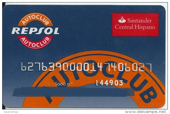 Gasoil - Gasoline - Oil Card REPSOL AUTOCLUB - Other Collections