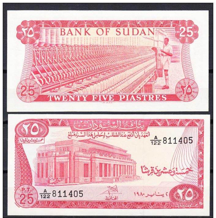 SUDAN 1980  25 PIASTRAS . PICK Nº 11C NUEVO SIN CIRCULAR UNCIRCULATED VER FOTO.B582 - Sudan
