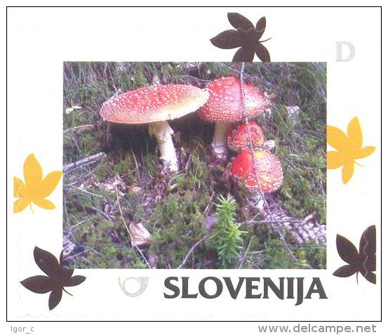 Slovenia Slovenie Slowenien 2014 Personalized Stamp: Autumn; Flora Mushroom - Slowenien