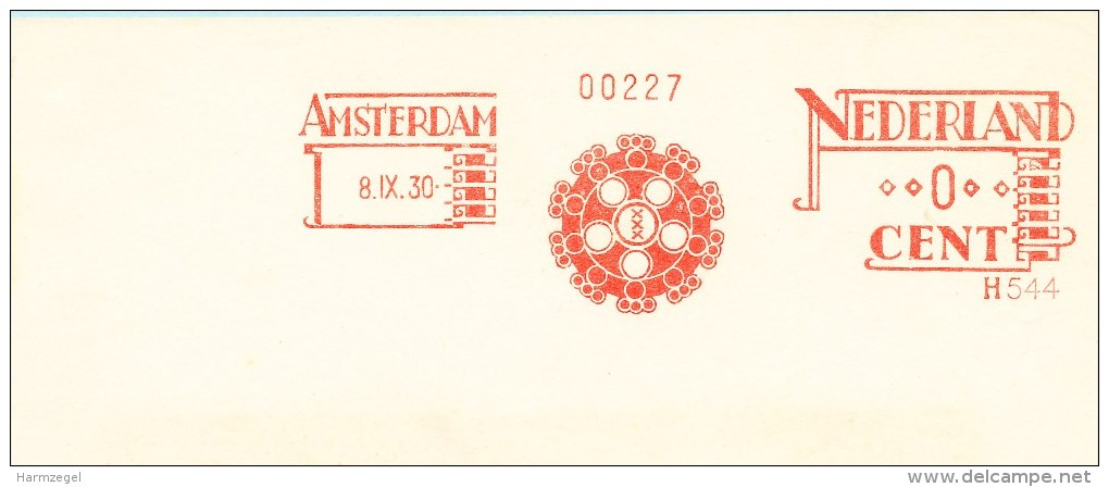Ema, Meter, Specimen, Amsterdam, Gemeente Giro, Municipal Bank, 3 Kruizen, 3 Crosses, Pest (zie Toelichting), Plague - Geographie