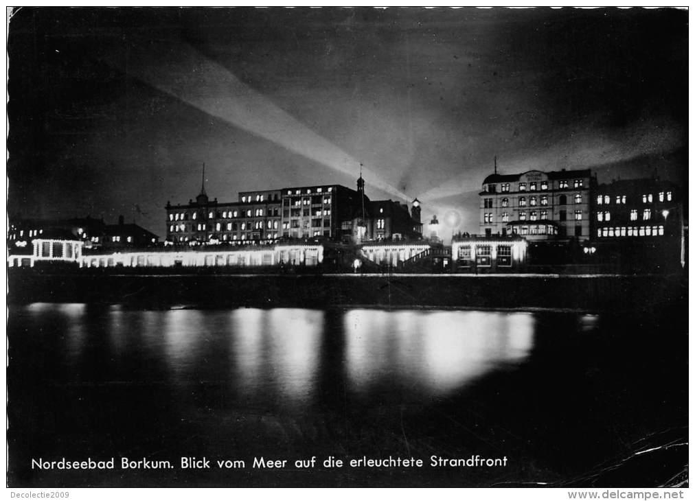 BG1100 Nordseebad Borkum Blick Vom Meer Auf Die Erleuchte  CPSM 14x9.5cm Germany - Borkum