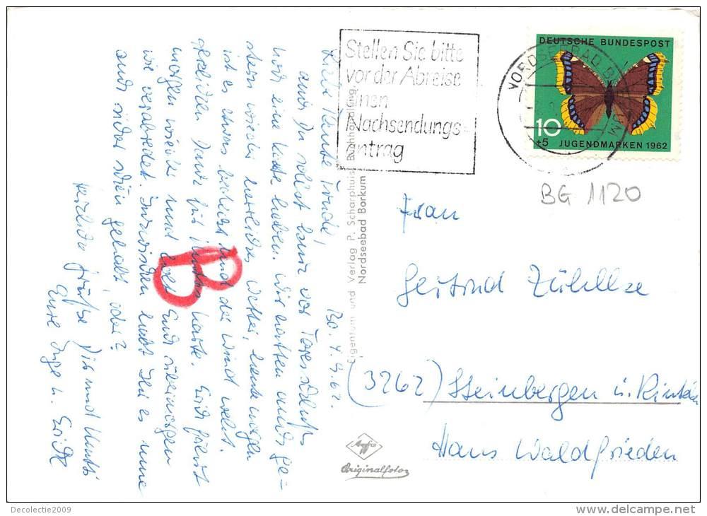 BG1120 Nordseebad Borkum Schwere Brandung An Der CPSM 14x9.5cm Germany - Borkum