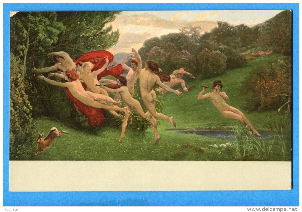 Mans715,femmes Nues Et Hommes Nus Jouant De La Musique, Lièvre, Paul Robert, Angelot, Non Circulée - Naakt-Volwassenen (< 1960)