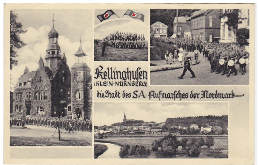 Kellinghusen Klein Nürnberg Stadt Des SA Aufmarsches Der Nordmark 1938 SA Marschiert - Kellinghusen