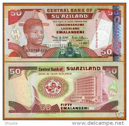 Swaziland 50 Emalangeni 2001 Pick 31 UNC - Swaziland
