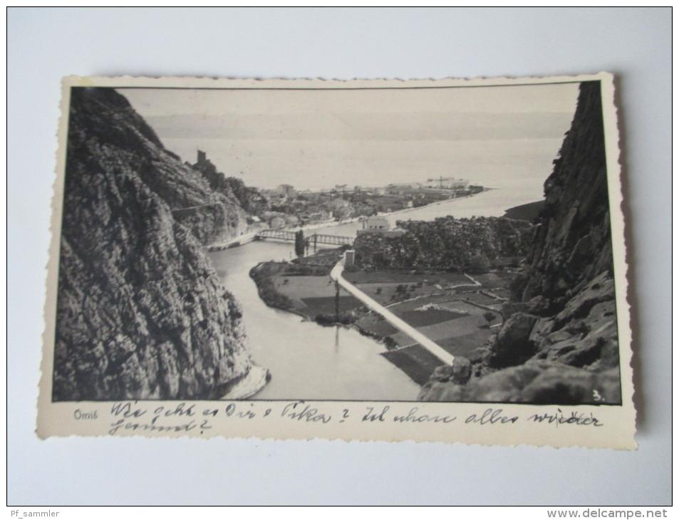 AK 1936 Jugoslawien / Kroatien. Omis. Bucht. Kleines Städtchen... - Jugoslawien