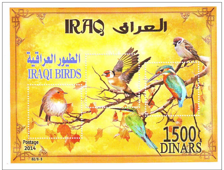 IRAQ  STAMPS 2015,Iraqi Emigrating Birds 2014, Mint Complet Set 5 Stamps +s/s - Iraq