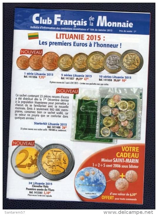 Catalogue Club Français De La Monnaie Janvier 2015 N° 184 - Français
