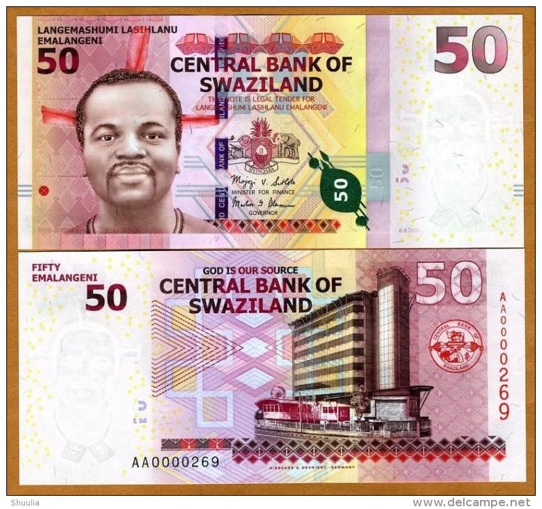 Swaziland 50 Emalangeni 2010 Pick 38 UNC - Swaziland