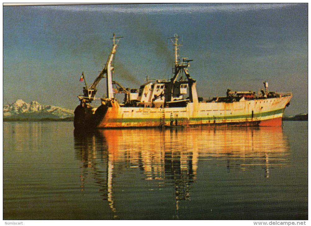 Kerguelen Ile ...terres Australes Antartiques Francaises TAAF Bateau Chalutier Usine L Austral à La SAPMER TRES RARE !!! - TAAF : Terres Australes Antarctiques Françaises