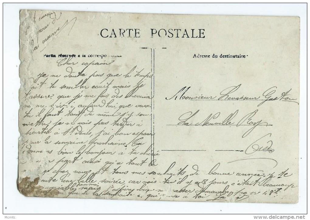 CPA  Très Abîmée - Souvenir Du 120é D´Infanterie à Peronne  - Militaire,Soldat Caserne - Peronne