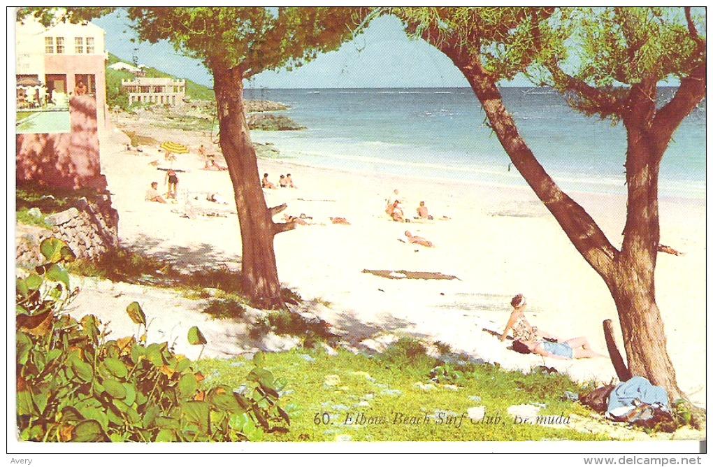 60. Elbow Beach Surf Club, Bermuda  Couple Of Marks At Bottom - Bermuda
