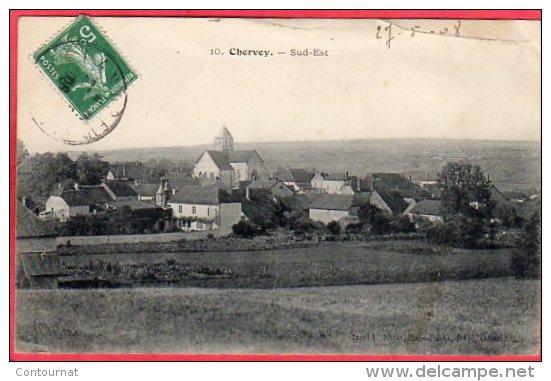 CPA 10 CHERVEY Vue Sud Est  Canton D´Essoyes - Troyes