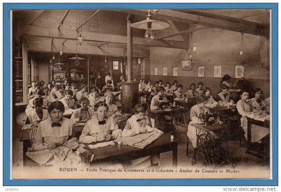 76 - ROUEN -- Ecole Pratique De Commrece Et D'industrie - Atelier De Couture Et Modes - Rouen
