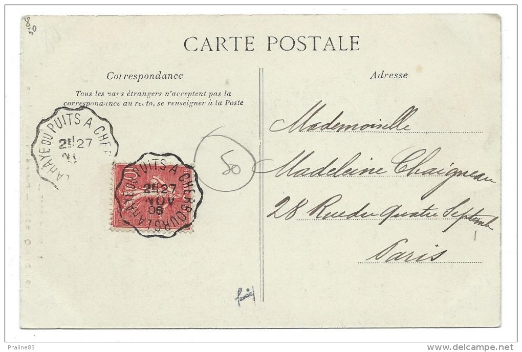 CPA -BRICQUEBEC -PORTE DU VIEUX CHATEAU -Manche (50) -Circulé 1906 -Animée - Bricquebec