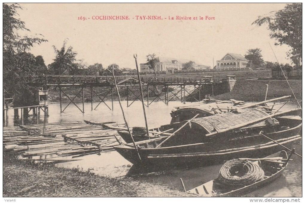 INDOCHINE - COCHINCHINE - TAY-NIKH - La Rivière Et Le Fort - Cartes Postales