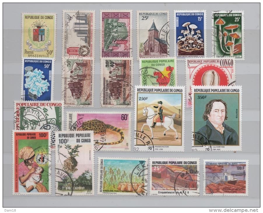 CONGO LOT  TIMBRES ENTRE N° 214 ET 748 (YT)  TOUS DIFFERENTS TBE - Collections