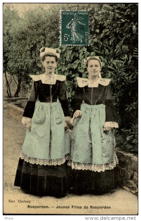 29 - ROSPORDEN - Costumes - Coiffes - - Francia