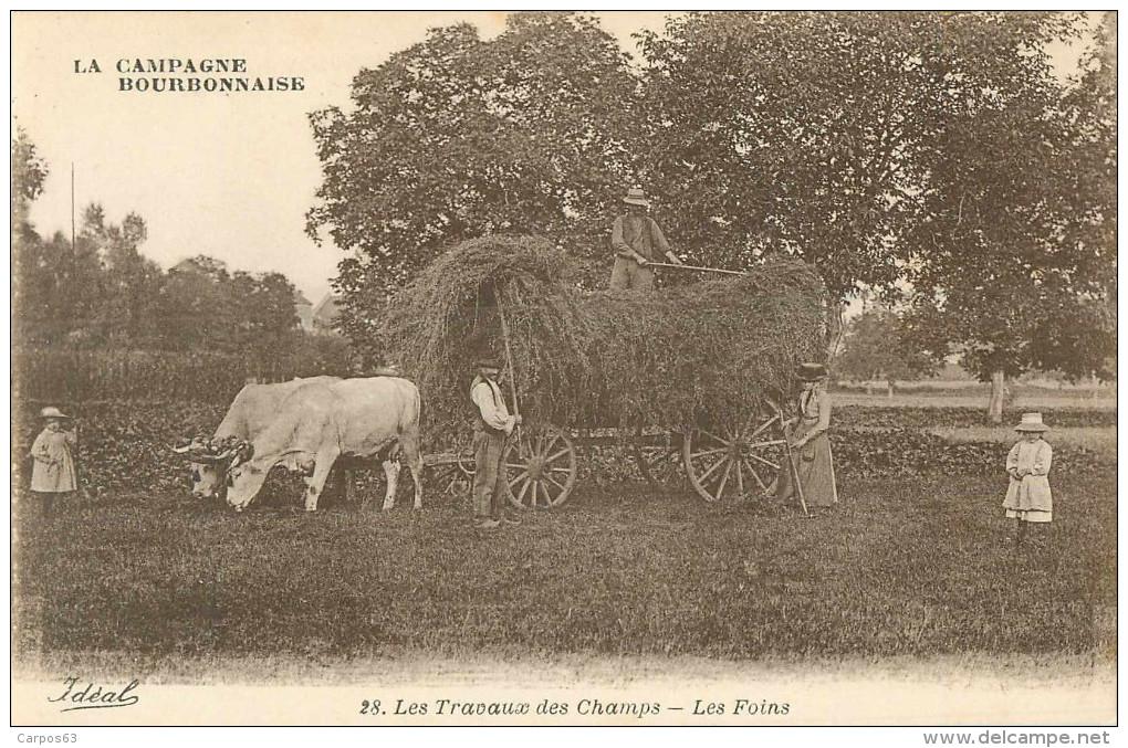 03 La Campagne Bpurbonnaise  Les Travaux Des Champs Les Foins - France