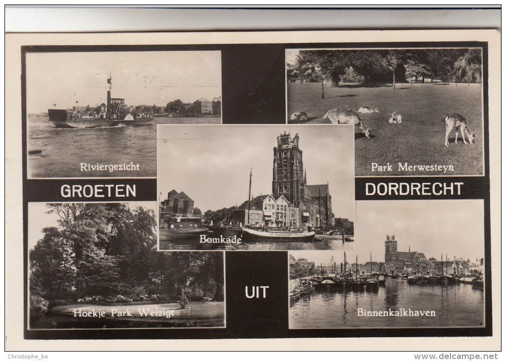 Groeten Uit Dordrecht, Riviergezicht, Bomkade, Park Mersesteyn, Binnenkalkhaven (pk15589) - Dordrecht