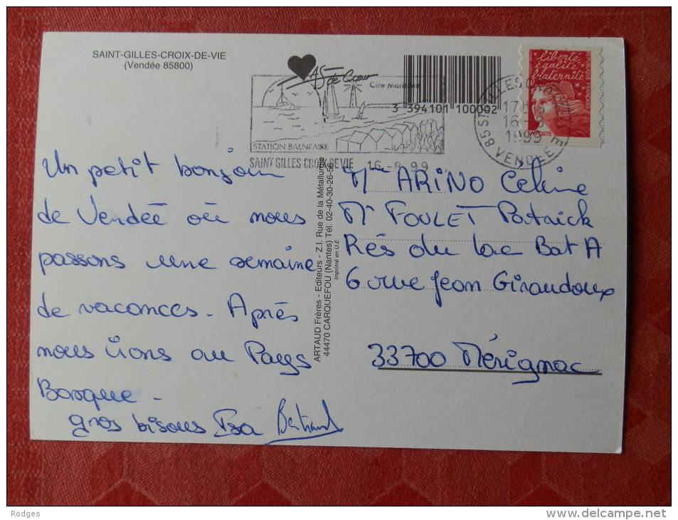 Cpm Saint GILLES CROIX De VIE , Vendée 85800  , Multivues (1.845) - Saint Gilles Croix De Vie