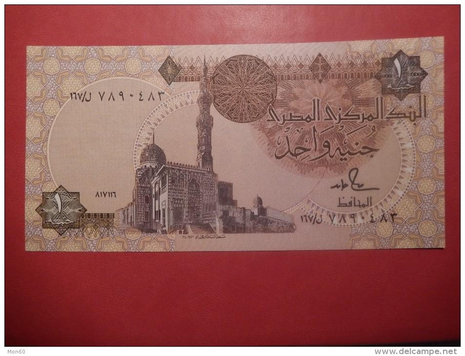 BANCONOTA EGITTO/EGYPT - ONE POUND/1 POUND - Egypte