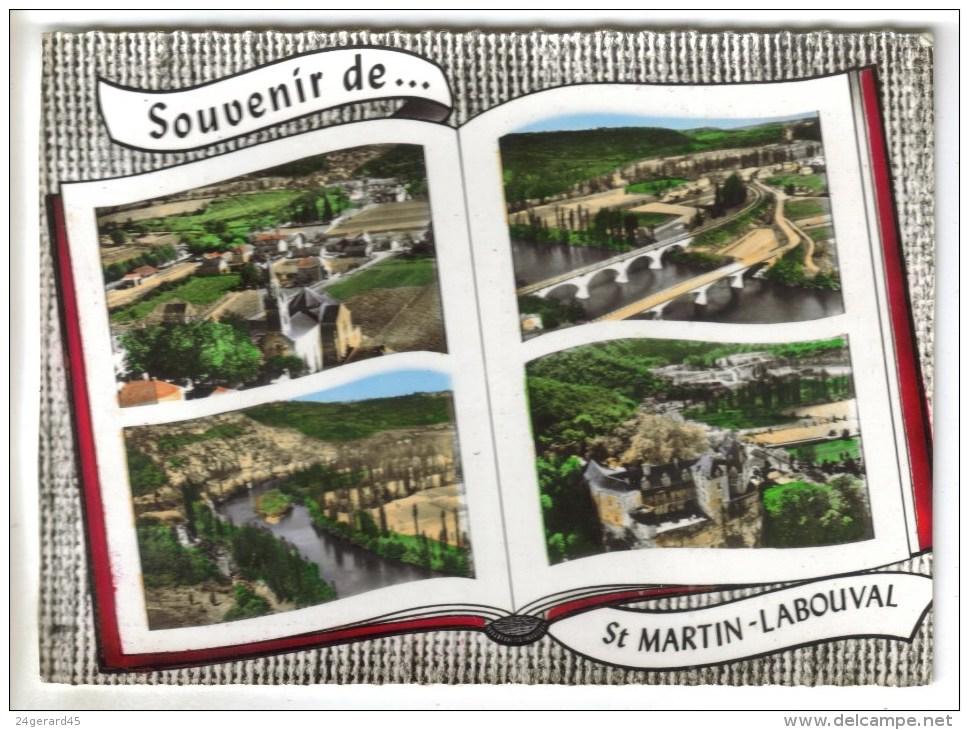 CPSM SAINT MARTIN LABOUVAL (Lot) - Souvenir De....4 Vues - France