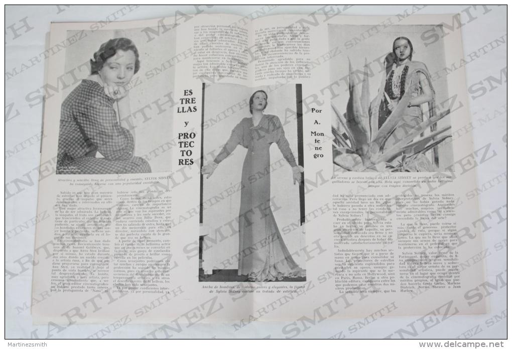 1935 Movie Actors Magazine - Clark Gable, Greta Garbo, Ann Shirley, Sylvia Sidney, Katherine Hepburn, Barbara Stanwyck.. - Revistas