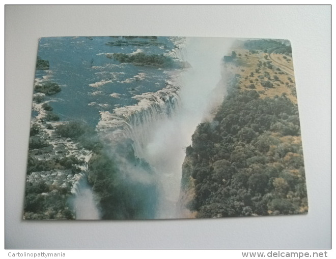 STORIA POSTALE FRANCOBOLLO COMMEMORATIVO Rhodesia Aerial View Of Main Gorge Victoria Falls - Zimbabwe