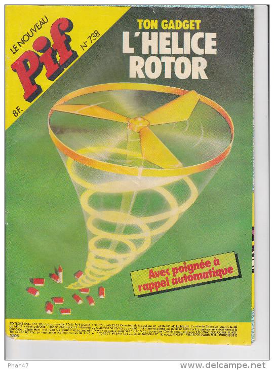 NOUVEAU PIF, N° 738 (mai 1983),  Editions Vaillant, Sans Gadget - Pif Gadget