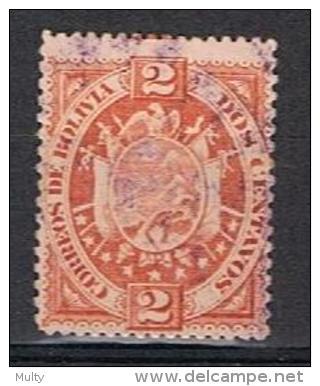 Bolivie Y/T 40 (0) Dik Papier / Papier épais - Bolivie