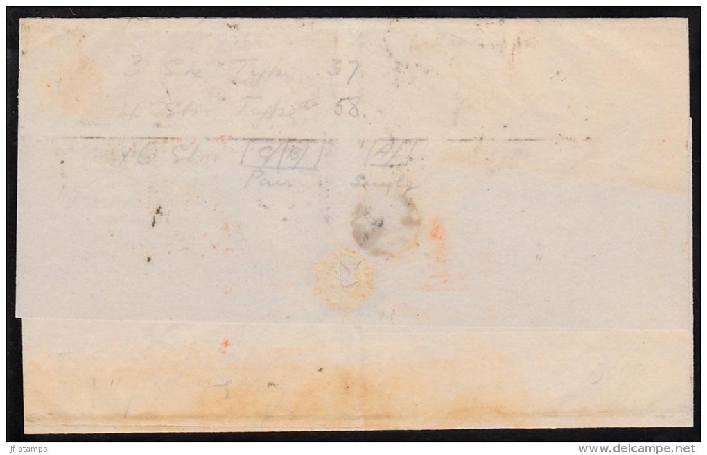 1864. Large Oval Type. 16 Skilling Greenish Dark Grey. Perf. 13x12½ (3 Ex.), 4 Skilling... (Michel: 15A+) - JF112161 - 1864-04 (Christian IX)