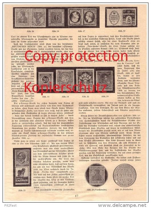 Original Zeitungsbericht - 1930 - Merkwürdige Briefmarken , Postwertzeichen , Dr. H.W. Gewande !!! - Sammlungen