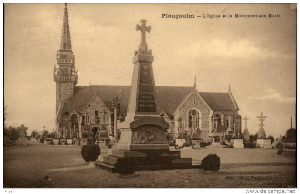 29 - PLOUGOULM - Monument Aux Morts - Autres Communes