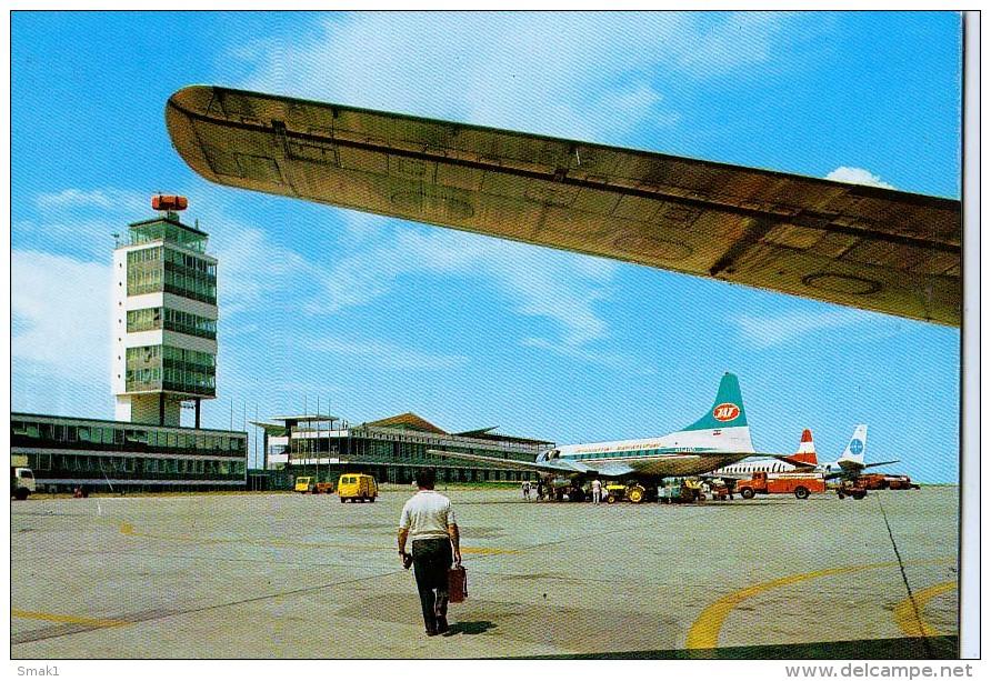 AK FLUGWESEN AERODROME FLUGHAFEN AIRPORT BEOGRAD  EX YUGOSLAVIA  ALTE POSTKARTE 1975 - Aerodrome