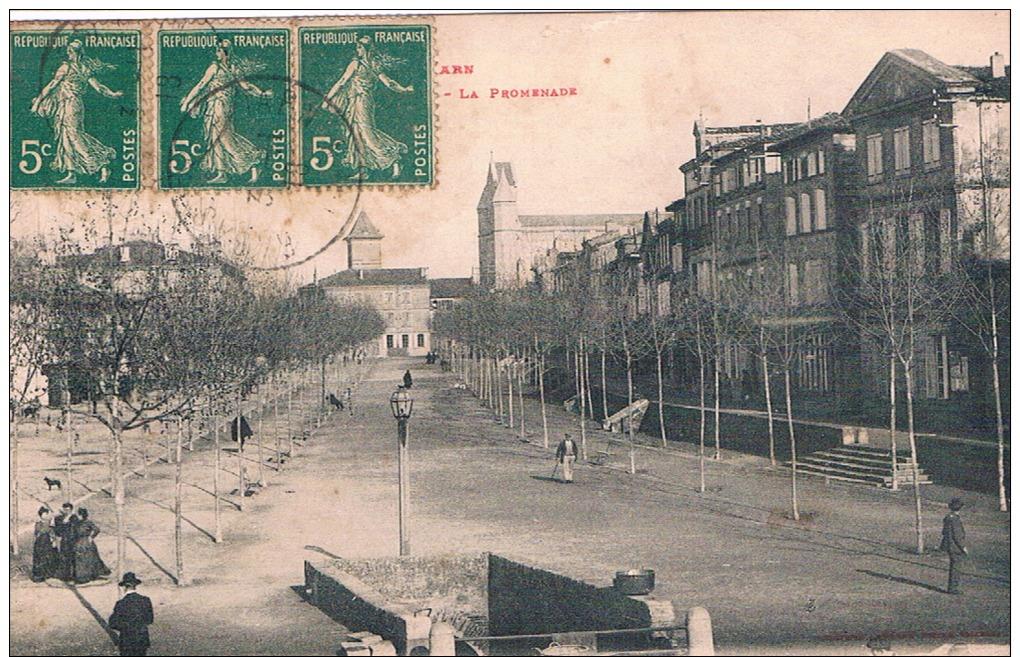 FRANCE C.P.A  81 TARN  RABASTENS  La Promenade   (en L´état) - Rabastens