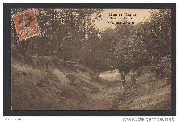 DF / BELGIQUE / PROVINCE DU HAINAUT / MONT-DE-L'ENCLUS / CHEMIN DE LA TOUR / WEG NAAR DEN TOREN / CIRCULÉE EN 1932 - Mont-de-l'Enclus