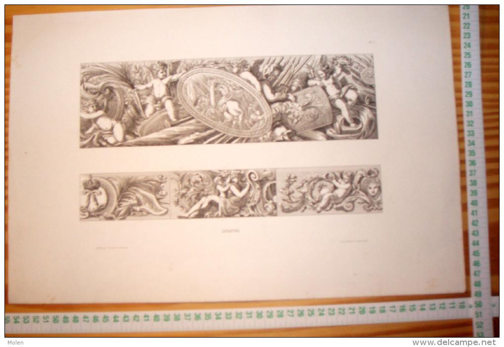 JEAN LEPAUTRE ARCHITECTE LOUIS XIV GRAVURE Ca 28 X 44 Cm Publie Par Decloux Et Doury En 1880 Categorie Architecture R145 - Meubles