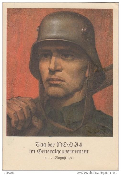 GG Propagandakarte 1 Jahr NSDAP Im GG EF Minr.67 SST Krakau - Besetzungen 1938-45