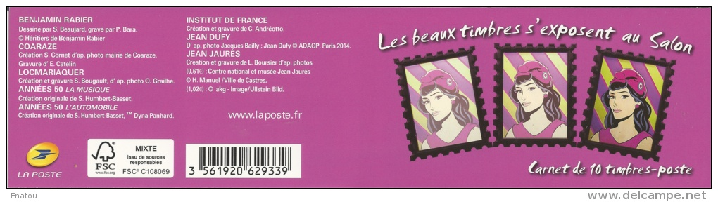 France, Nice Stamps, Self-adhesive, 2014, MNH VF, Booklet Of 10 - Commemoratives