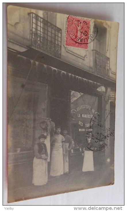 Carte Photo - Charcuterie De La Manufacture Des Tabacs - Maison Clement - Issy Les Moulineaux? - Commercio