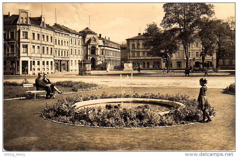 Meiningen - S/w Platz Der Republik - Meiningen