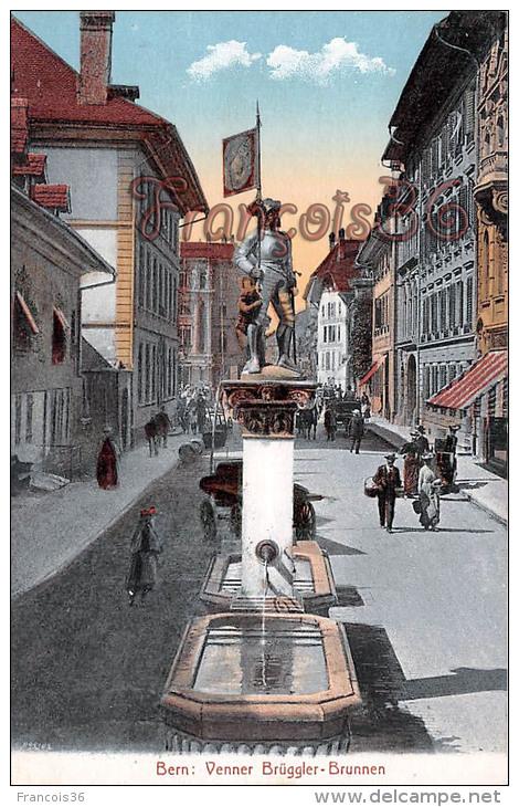(BE) Bern - Venner Brüggler Brunnen - Excellent état - 2 SCANS - BE Berne