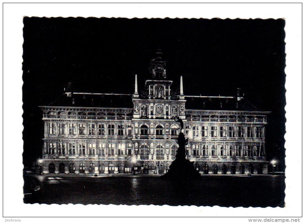 Belgique: Antwerpen, Anvers, Hotel De Ville Et Monument Brabo (15-345) - Antwerpen