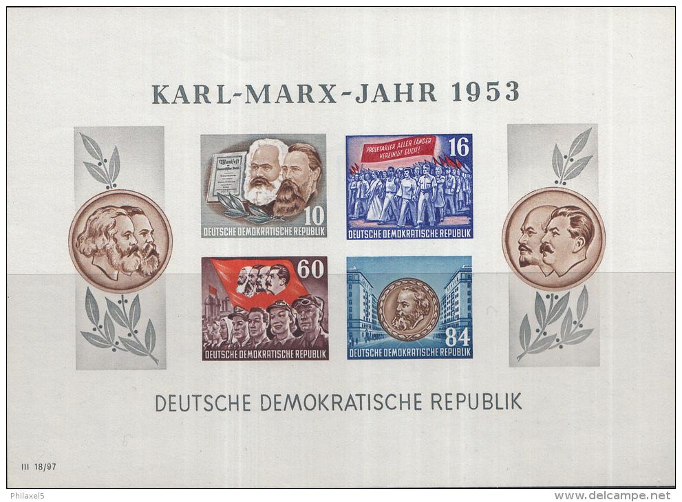 Oost-Duitsland - Karl-Marx-Jahr – Postfris/MNH – Michel Block 9B - [6] Oost-Duitsland