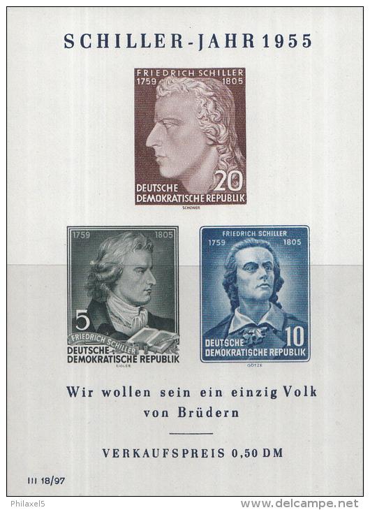 Oost-Duitsland - 150. Todestag Von Friedrich Schiller – Postfris/MNH – Michel Block 12 - [6] Oost-Duitsland
