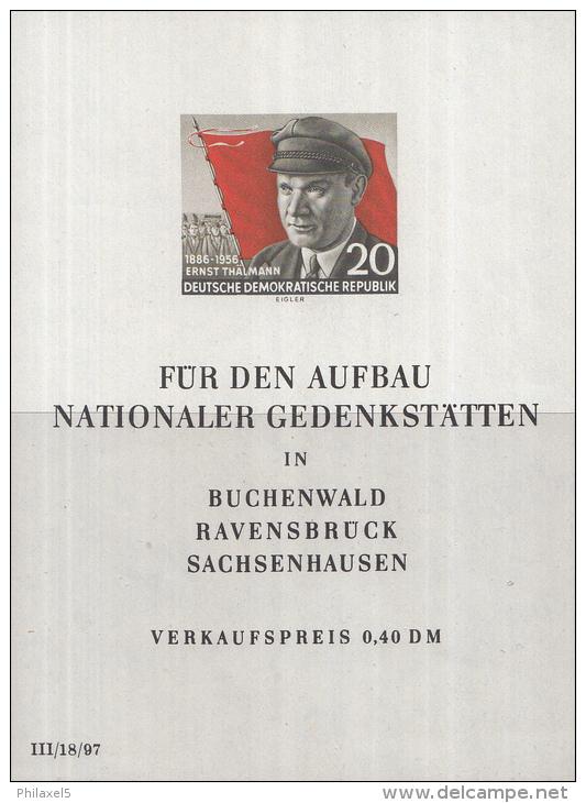Oost-Duitsland - 70. Geburtstag Von Ernst Thälmann– Postfris/MNH – Michel Block 14 - [6] Oost-Duitsland